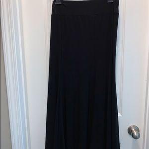 Julie's Closet Black A line Skirt Large
